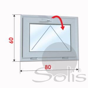 Еднокрил пвц прозорец 5-камерен 80х60см